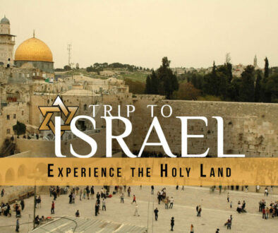 Call Us For A Holy Lands Vacation!