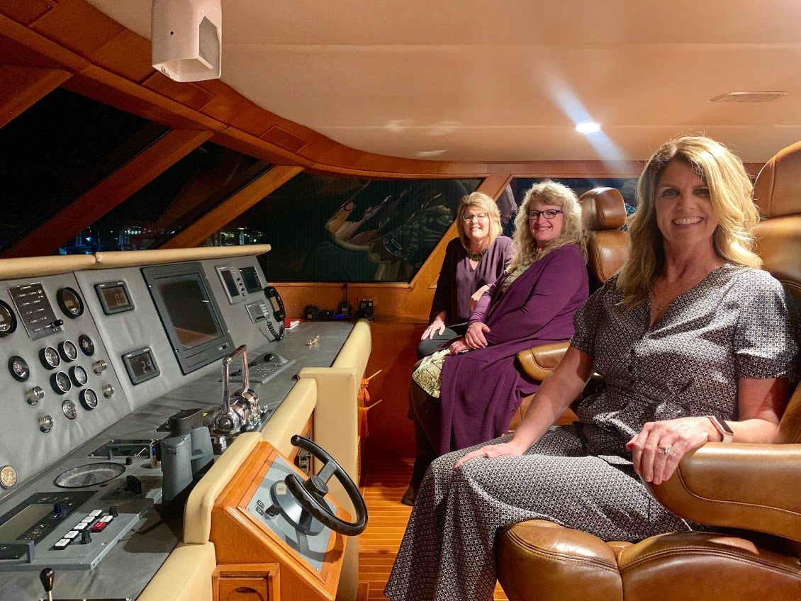 All Aboard the Lady Sandals Yacht